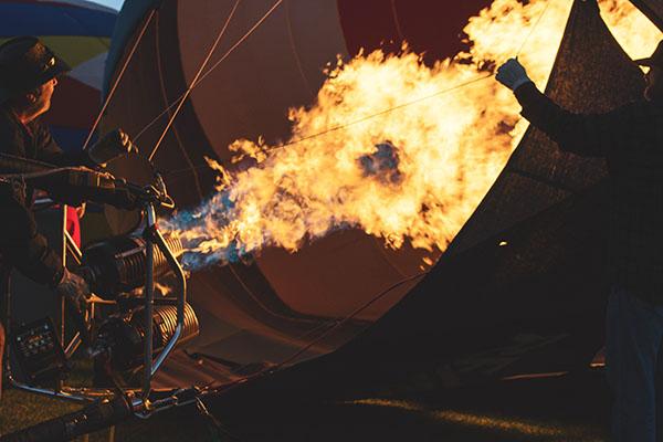 Hot Air Balloon Using Propane